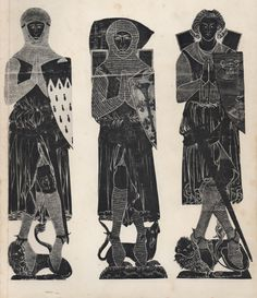 Brass Rubbings: Catalogue of Rubbings of Brasses and Incised Slabs, Victoria and Albert Museum, 2nd Edition (1929, reprinted 1968). Cover illustration shows Military Costume rubbings depicting (from left to right), Sir J. D'Aubernoun, Stoke d'Abernon (1277), Sir R. de Trumpington, Trumpington (1289) and Sir R. de Setvans, Chartham (1306).