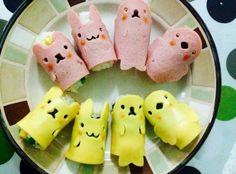 Cute animal Sushi #Animals #SushiMolds #RiceBall  #SandwichTool