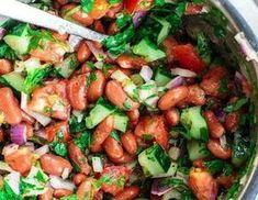 Идеальный обед: салат из красной фасоли! Summer Salad Recipes, Summer Salads, Curry, Meal Prep, Good Food, Food And Drink, Vegetarian, Healthy Recipes, Diet