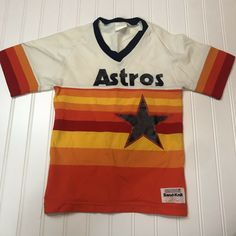 24c51cf7ca8a Vintage Youth Medalist Sand-Knit Houston Astros Jersey Small Retro USA  Texas