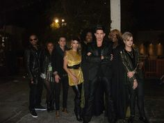 Adam and his band and backup singers for 2012