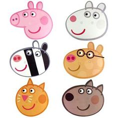 Try these super cute Peppa Pig party ideas for your little one's birthday, including decorations, party games and more. Peppa Pig Mask, Peppa Pig Images, Peppa Pig Stickers, Cumple Peppa Pig, Peppa Peg, Peppa Pig Party Supplies, Peppa Pig Colouring, Pig Birthday Cakes, Pig Character
