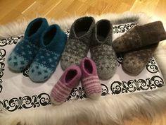Tøfler - tovet pattern by Rita Nygård Andersen Ravelry, Baby Shoes, Slippers, Knitting, Barn, Pattern, Fashion, Tricot, Moda