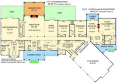 First Floor: Sq. Second Floor: 488 Sq. Pepperwood In-law suite Ranch House Plan - First Floor This is an amazing floor plan! I can already picture me and my family here! Perfect with the in-law suite off to the side! House Plans One Story, Ranch House Plans, Dream House Plans, House Floor Plans, Ranch Floor Plans, Story House, The Plan, How To Plan, Plan Plan