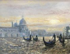 "For Sale: Venice Sunset by John Paul | $1,530 | 10""w 8""h 