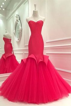 Beautiful Prom Dress, red prom dresses evening dress beaded prom dresses red prom dresses simple prom gown prom dress mermaid formal gowns for teens Meet Dresses Strapless Prom Dresses, Prom Dresses For Teens, Prom Dresses 2017, Beaded Prom Dress, Party Dresses, Dress Prom, Bridesmaid Dresses, Wedding Dresses, Mermaid Evening Dresses