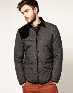 ASOS Wool Quilted Jacket