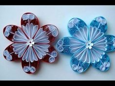 Paper quilling flowers are easy to make and arrange. It is a fun craft which actually demands patience. One can easily make quilled flowers 3d Origami Vase Tutorial, Quilling Flowers Tutorial, Paper Quilling Flowers, Quilling Paper Craft, Quilling Patterns, Quilling Designs, Flower Tutorial, Paper Crafts, Paper Paper