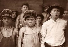 This picture shows children who work in a Cotton Mill in Pell City, Alabama. The photograph was taken in 1910. Notice the cotton fibers on the children's hats. Cotton fiber is very dangerous to breath, and the health effects were probably as bad as working in a coal mine.