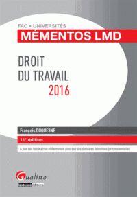 François Duquesne - Droit du travail. http://catalogue-bu.univ-lemans.fr/flora/jsp/index_view_direct_anonymous.jsp?PPN=191275220