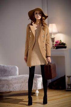 2c45e4ca1d971 Discover this look wearing Camel Fashionable And Chic Style Coats