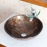 Found it at Wayfair - Hot Melted Rock Pattern Glass Bowl Vessel Bathroom Sink