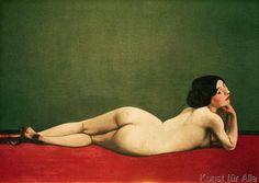 Felix Edouard Vallotton - Nu couché au tapis rouge