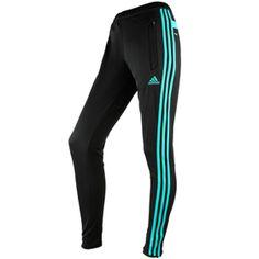 Adidas Tiro 13 Women's Training Pants - Black/Vivid Mint | S13186