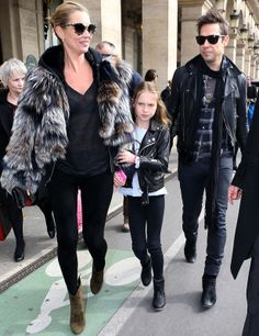 Kate Moss and her daughter -Kate is the master of effortless chic