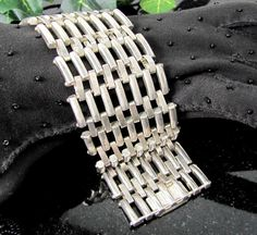 Vintage RALPH LAUREN Bracelet Silver Plated Woven by ShootingCreek 90d207c2516