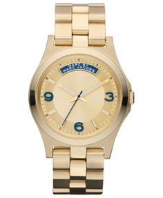 Marc by Marc Jacobs Watch, Women's Gold Ion Plated Stainless Steel Bracelet