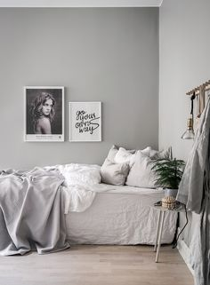 Grey bedroom inspiration | Menu Yeh wall table available at www.istome.co.uk