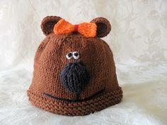 Baby Hats Knitting Knit BabyBeanie Hand Knitted Bear Baby Hat Knitted Baby Beanie Animal Hat Mama Bear Hat Papa Bear Hat Children Clothing by CottonPickings on Etsy