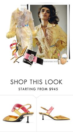 """""""Prada Spring 2017"""" by sella103 ❤ liked on Polyvore featuring Prada and Too Faced Cosmetics"""
