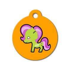 Zombie Pony - Halloween Pet Tag #holidays #dogtagsfordogs #pettags #dogaccessories #dogfashion #dogs #pets #etsy #etsyfinds #halloween #kawaii #dogtags #pony