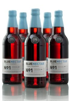 Blue Nectar No.1 - TheDieline.com - Package Design Blog