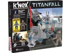 Grow your army and establish the warzone with the K'NEX Titanfall™ IMC Pilot Strike Building Set! Use the IMC Pilot included to battle the Spectre in one-on-one combat. Includes 80+ pieces including an exploding wall to recreate the features of the Titanfall™ game. Combine with the Militia Pilot Attack Building Set to grow your K'NEX Titanfall™ collection. For builders ages 8+.