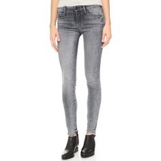 MOTHER The Looker Skinny Jeans ($200) ❤ liked on Polyvore featuring jeans, grim shadows, faded skinny jeans, 5 pocket jeans, mother jeans, skinny jeans and denim skinny jeans