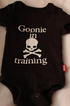 80's Goonie in Training/Skull & Crossbones Onesie - Boys/Girls Onesie on Etsy, $10.00