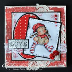 Tilda with gingerbread heart, Magnolia stamps