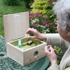 Music Memory Box by Chloe Meineck. A music box that invites dementia sufferers to hold familiar objects, which activate songs, and magically stir inaccessible memories.