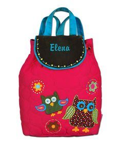 Another great find on #zulily! Hot Pink Owl Personalized Quilted Backpack #zulilyfinds