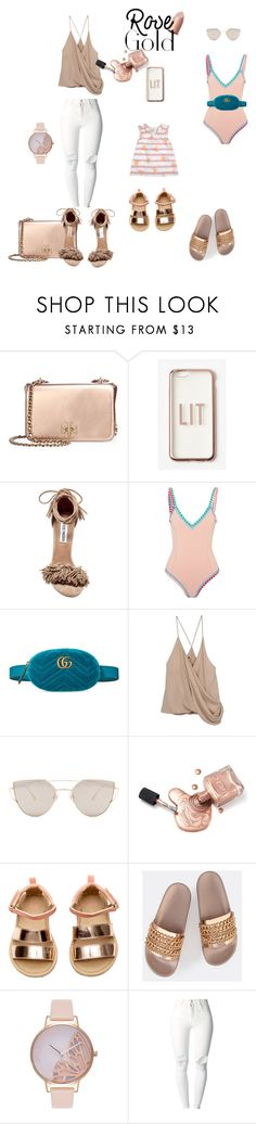 """In the Rose"" by windycityfly on Polyvore featuring Tory Burch, Missguided, Steve Madden, kiini, Gucci, Haider Ackermann, Gentle Monster, H&M, Olivia Burton and (+) PEOPLE"