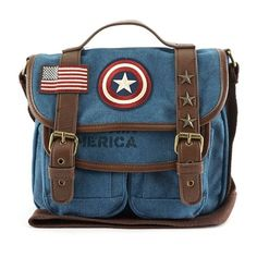 Loungefly x Marvel Captain America Canvas Messenger Bag - View All - Bags Casual Cosplay, Marvel Captain America, Captain America Clothes, Captain America Outfit, Captain America Merchandise, Captain America Cosplay, Marvel Fashion, Marvel Clothes, Nerd Clothes