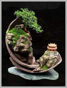 Wonderful #bonsai landscape creation from Naboria Bonsai #Bonsaicuidados