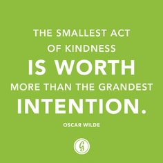 I need to remember that doing something small is far more significant than wishing more people were open to charity.