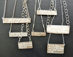 Get the words to your favorite song on a necklace? So awesome!