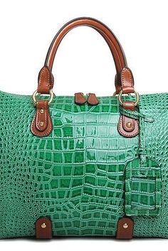 CROC-EMBOSSED GRACE SHOULDER BAG Cute Purses 19d7aa6d6cb80