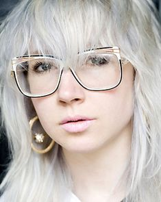 Carrie Mundane, designer, Cassette PlayaI've got three pairs of glasses. Vintage Cazals, which I put prescription lenses in, and another vintage pair with big plastic purple frames, really cartoonish, from Arckiv in Camden. I don't really like new glasses. Glasses are having a fashion moment now; maybe people are realising it's OK to be a nerd.