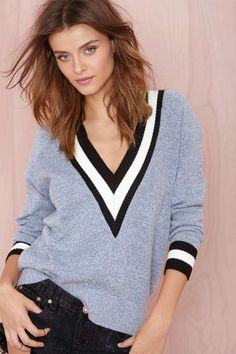 Boys Club Sweater - Heather Blue