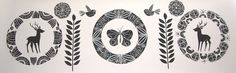 Annie Smits Sandano Title: 'Silver Wings' Medium: Limited edition wood cut print Dimensions: 1580 mm x 500 mm Number of prints in edition: 3