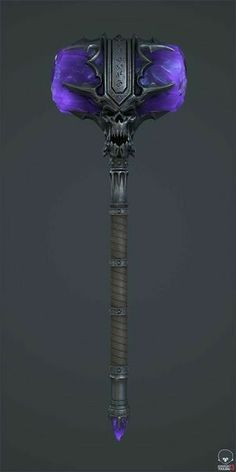 Hammer of the Dark Naaru, Vadym Tkach Ninja Weapons, Anime Weapons, Sci Fi Weapons, Weapon Concept Art, Cosplay Weapons, Fantasy Sword, Fantasy Armor, Dark Fantasy Art, Super Mario Rpg