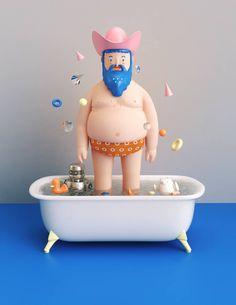 Colorful 3D Illustrations – Fubiz Media