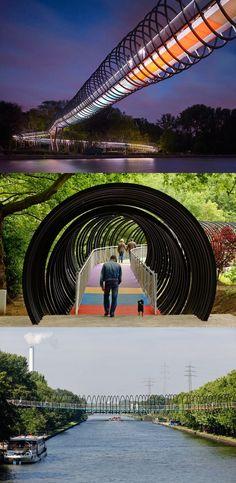 The Slinky Bridge - Oberhausen, Germany
