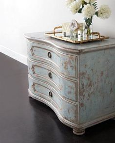 John-Richard Blue Distressed Collection Bonnie Chest