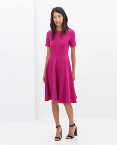 FLARED SHORT-SLEEVED DRESS from Zara