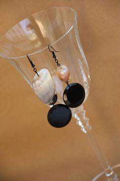 orecchini onice spinello madreperla perla barocca hand made