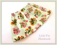 Humming Bird Lime Baby Skirt Size 18-24months by LittleFaeHandmade