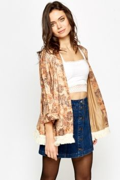 Suedette Paisley Open Kimono Get The Look, Paisley, Kimono Top, Summer, Shopping, Collection, Tops, Dresses, Women