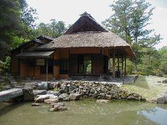 Shokin-tei (tea ceremony house) in Katsura Rikyu Imperial Villa, Kyoto, Japan.